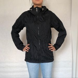 UNIQLO +J Black Shell light jacket.